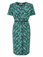 Eastex Painterley Leaf Jersey Dress UK Size 14 rrp £99 TD075 KK 09
