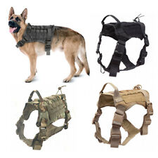 Tactical Service Dog Coat Training Molle Adjustable K9 Dog Harness with Handle