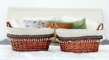 Traditional Lined Wicker Baskets by Handcrafted 4 Home