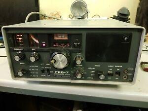 Yaesu Musen FRG-7 Communications Receiver CB Radio CW/LSB/AM/ANL.NOT FULLY TESTE