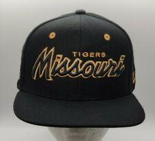 Missouri Tigers Snapback Retro Zephyr Script Hat Cap Black Gold