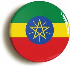 ETHIOPIA ETHIOPIAN NATIONAL FLAG BADGE BUTTON PIN