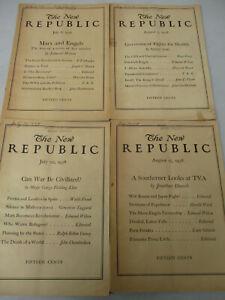 Karl Marx Friedrich Engels Vintage New Republic Edmund Wilson Lot Communist 1938