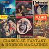 Pulp Science Fiction SF Fantasy & Horror Fiction - 684 Magazines on Data DVD