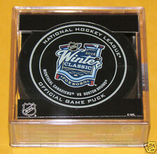 2016 WINTER CLASSIC OFFICIAL GAME PUCK Montreal Canadiens vs Boston Bruins NEW