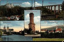 Rochlitz Sachsen AK 1913 Schloss Rochsburg Friedrich August Turm Göhrener Brücke