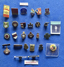 More details for x26 button hole lapel & pin badges - butlins, king edward viii, boy's brigade