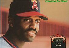 617  ALVIN DAVIS  CALIFORNIA ANGELS TOPPS BASEBALL CARD STADIUM CLUB 1992