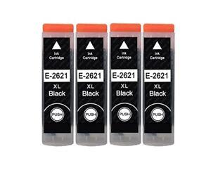 4 Black Ink Cartridges 26XL For Epson XP 510 XP 600 XP 605 XP 700 XP 800 XP820