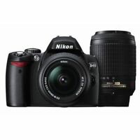 Excellent! Nikon D40 with 18-55mm and 55-200mm VR Black - 1 year warranty