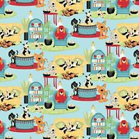 Wild Wings House Dogs Play time 100% cotton Fabric by the yard