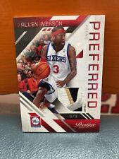 2010 Panini Preferred Allen Iverson 76ers 3 Color Patch #'d 25