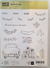 Stampin Up Retired Photopolymer Stamp Set Wonderful Life *Brand NEW*