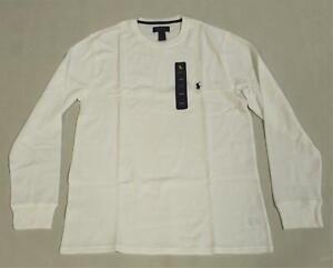Polo Ralph Lauren Men's Waffle-Knit Thermal Pajama Shirt SC4 White Large NWT