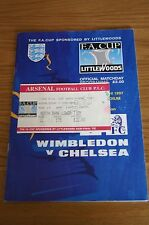 Wimbledon v Chelsea 1997 FA Cup Semi-Final Programme and Ticket