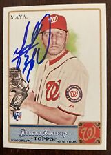 Yunesky Maya Auto Signed 2011 Topps Allen & Ginter Baseball #172 Rookie