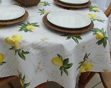 140 x 250cm Oval Wipe Clean PVC Tablecloth - Lemons