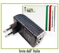 Alimentatore PoE per Antenne Access Point Ubiquiti Injector 24W 48V 0.5A 01175