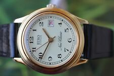 GREAT GERMAN GOLD-PLATED EURO CHRON UMF RUHLA WATCH WITH DATE