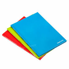3 x Red/Blue/Green A4 Paper Notebooks Hardback 160 Page Lined Writing Books Pads