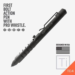 GP 1945 Bolt Action Plus Pen - Machined Titanium Dark version GPCA + Kickstarter