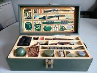Vintage GI Joe 1964 Wooden Footlocker Complete w/Accessories BEAUTIFUL Hasbro