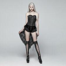 Women Gothic Swallow Tail Shorts Retro Lacing Victorian Black Sexy Palace Shorts