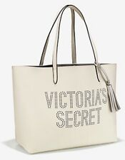 Victoria's Secret Tote Bag White With Dotted VS Logo New 2017.