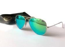 Ray Ban Aviator Pilot Green Flash Sunglasses RB3025 112/19 58mm