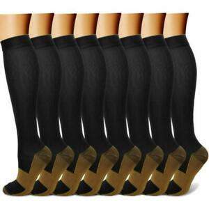 Quxiang Copper Compression Socks For Men  Women - Best For Running, Athletic, M