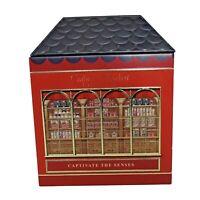 "Crabtree & Evelyn London Christmas Tin Captivate the Senses 7.25"" x 9.5"" Empty"