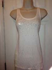 Limited White Jeweled Size Medium Tank