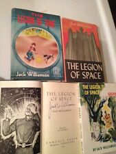 JACK WILLIAMSON 1st EDs LEGION OF SPACE (SIGNED!) & TIME Sci Fi Lot SF HISTORY!