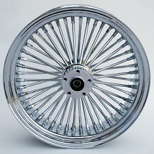 "Chrome Ultima 48 King Spoke 18"" x 5.5"" Rear Wheel for Harley and Custom Models"