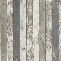 NARROW WOOD PLANKS WALLPAPER GREY AS CREATION 9591-42 FEATURE WALL NEW