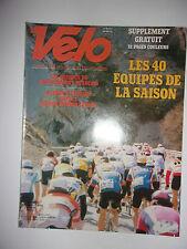 VELO MAGAZINE N°175 MARS 1983 LES 40 EQUIPES DE LA SAISON