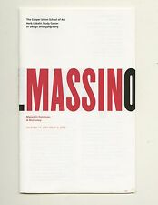2001 Cooper Union MASSIN IN CONTINUO: A DICTIONARY Avant-garde Typography Exhibt