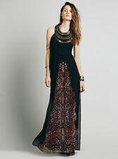 NWT Free People Rare $400 Demeter Metal Beaded Bib Boho Maxi Gown Dress 4