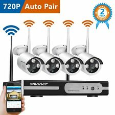 Wireless Outdoor 4CH 1080p NVR Surveillance Camera Security System Night Vision