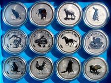Satz Lunar I 1oz Silber Australien Maus Ochse Tiger Hase Drache Schlage Pferd