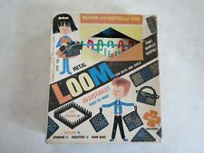"""""METAL WEAVING LOOM - ADJUSTABLE, VINTAGE"""" ++ LOOPS in Box"