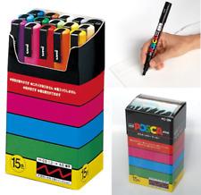 Uni POSCA Paint Marker Pen Fine Point PC-3M 0.9-1.3mm Set of 15 Colors PC3M15C
