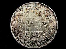 1941 CANADA HALF DOLLAR WITH RAINBOW TONING
