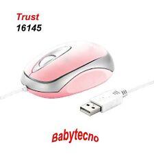 TRUST MINI MOUSE OTTICO Usb Pink Rosa 16145 Micro COMPATTO PC NOTEBOOK Netbook 2