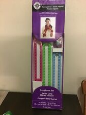 Knit Quick Long Loom Set Loops & Threads 6 Pieces New in Box