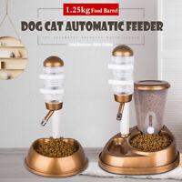 Automatic Water Drinker Food Feeder Dispenser Fountain Bottle Dog Cat Pet