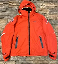 Men Puma Volvo Ocean Race 08-09 Wind Stopper Red  Fleece Lined Jacket Sz S Rare!