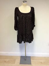 BNWT FRENCH CONNECTION BLACK FLORAL PRINT MINI ANNIE DRESS SIZE 8 RRP £60