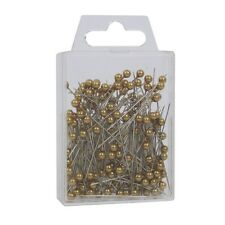 "Pearl head pins Antique Gold florists corsage craft buttonhole 1.5"" Box of 144"