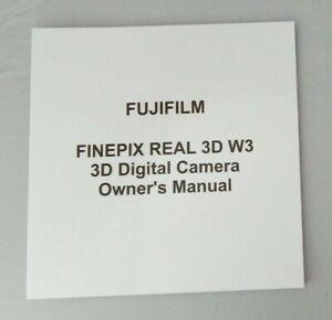 FujiFilm Finepix REAL 3D W3 Camera Owner's manual - Fuji Digital camera